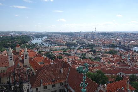 Uitzicht op Praag