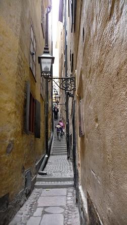 Smalste straat van Stockholm